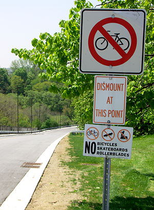 No bikes allowed into the park
