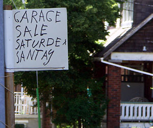 Garage Sale Saturdea Santay