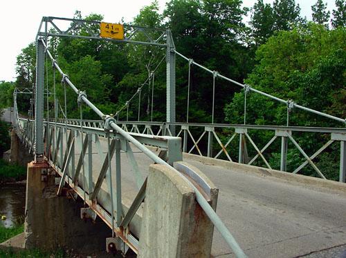 Sewells Road suspension bridge in Scarborough