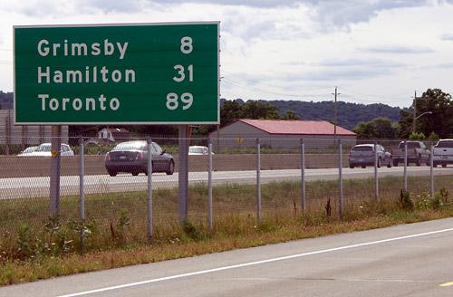 89 km to Toronto