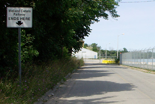 The Welland Canals Parkway ends abruptly