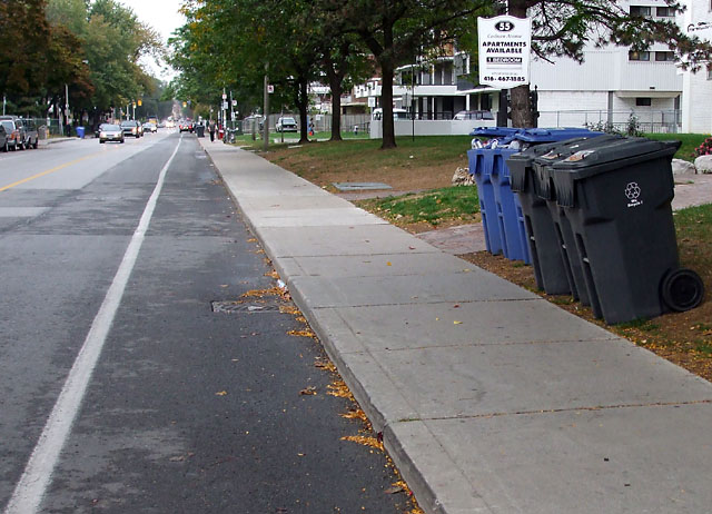 A sight for sore eyes: a bin-free bike lane