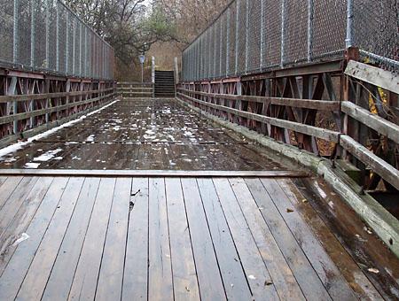 Bailey bridge in the Don Valley