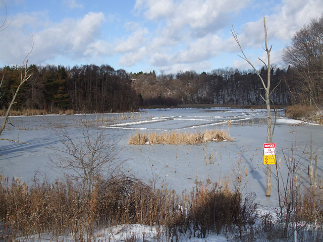 Natural ice rink in E.T. Seton Park, gone until the next freeze