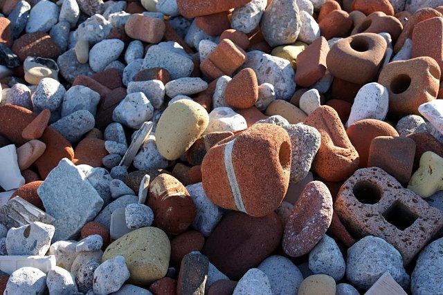 Old bricks on the beach, Leslie Street Spit