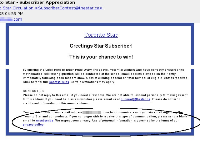 Just the latest spam from the Star