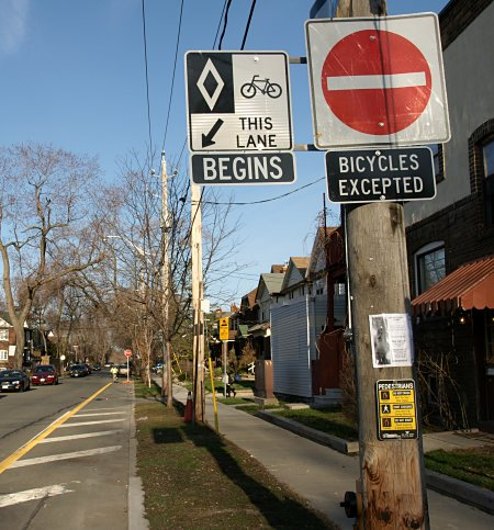 Bike lane signs unwrapped after almost 5 months in darkness