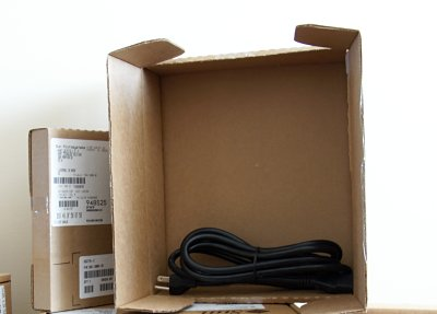 Power cord in a box