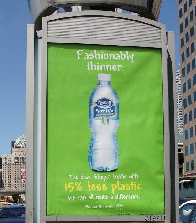 15% less plastic