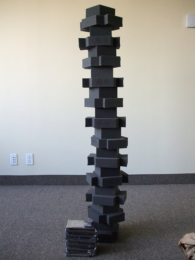 World's tallest freestanding foam tower