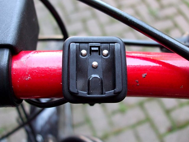 Mounting bracket of a Cateye Strada Cadence bicycle computer