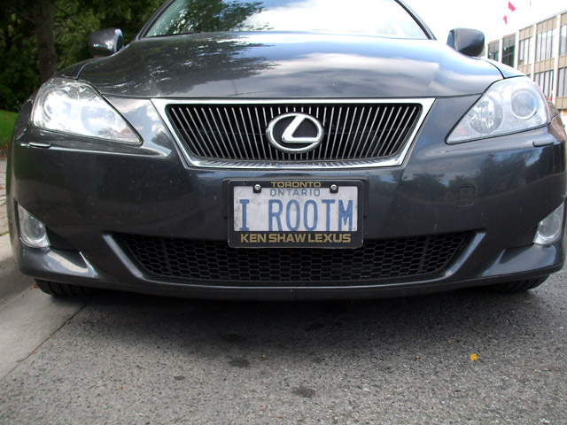 Ambiguous licence plate