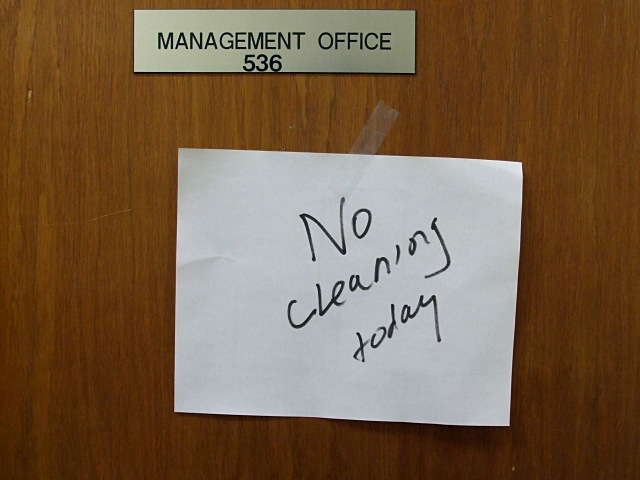No cleaning today