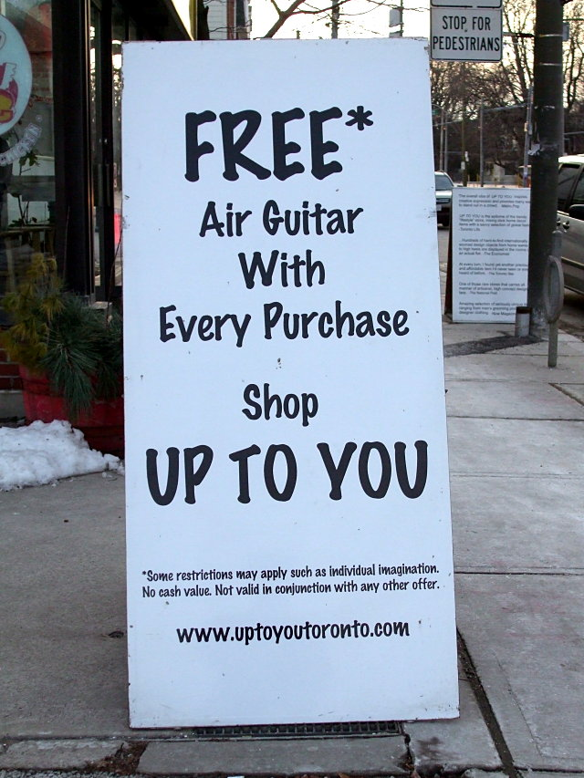 Free air guitar with every purchase