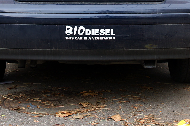 This car is a vegetarian