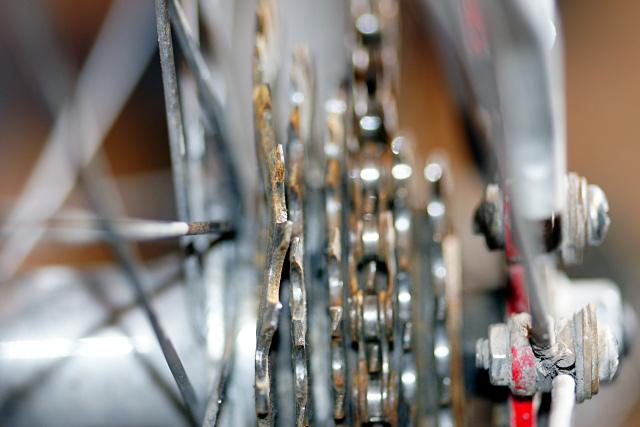 A very bent freewheel