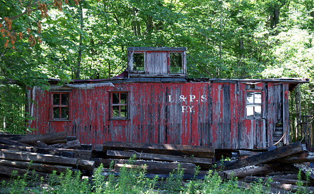 Old caboose in the woods