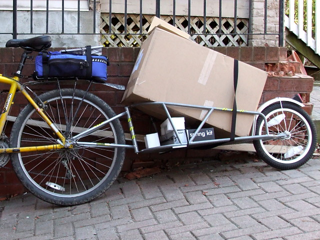 Carrying a full load on my bike trailer