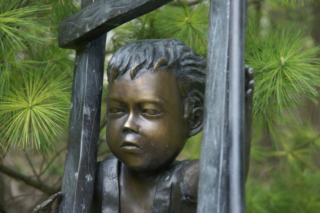 Detail of monument in Mount Pleasant Cemetery