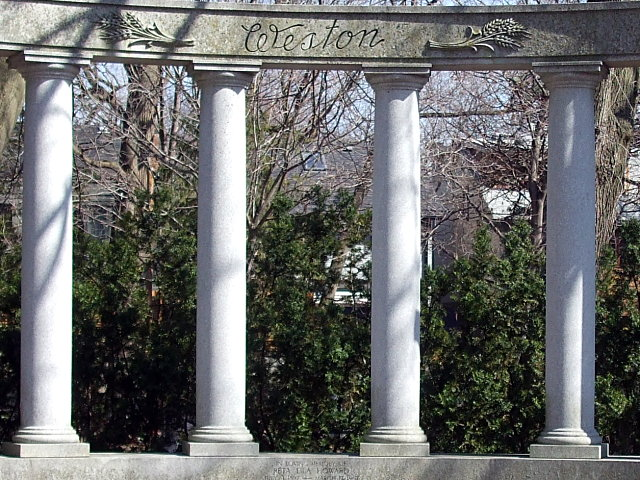 Garfield Weston's monument in Mount Pleasant Cemetery