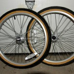 Two quick-release wheels came with the Wike DIY trailer kit