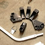 The rest of the kit contained six connectors to help construct the trailer, a bike hitch and pin, and a tow bar to connect the trailer to the hitch. It seems minimal, but this the kit contains basically everything you need to build a trailer, including all of the hard parts. With this kit, you can finish a trailer without any specialized tools beyond maybe a drill.
