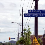 "<a href=""http://maps.google.com/maps?q=Steeles%20Avenue%20West%20%26%20Futurity%20Gate"">Futurity Gate</a> runs north off Steeles near Dufferin. It was first developed around the time that they ran out of street names."