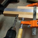 Connect the wooden crosspieces to the aluminum crosspieces with #10 self-tapping screws.