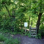 """The <a href=""""http://www.oakridgestrail.org/"""">Oak Ridges Trail</a> comes out to Dufferin from the King Campus of Seneca College. Following this trail through the campus will get you to the gorgeous <a href=""""http://www.eatonhall.ca/"""">Eaton Hall</a>, the former summer home of the Eaton family."""
