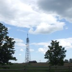 The top of the Oak Ridges Moraine is marked by a communications tower at 18th Sideroad.