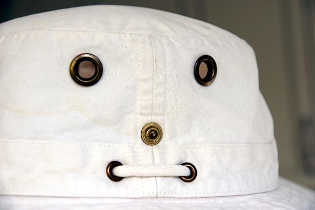 Tilley hat face