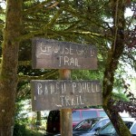 The Grouse Grind shares its trailhead with the Baden-Powell Trail that skirts the mountain but doesn't go all the way up.