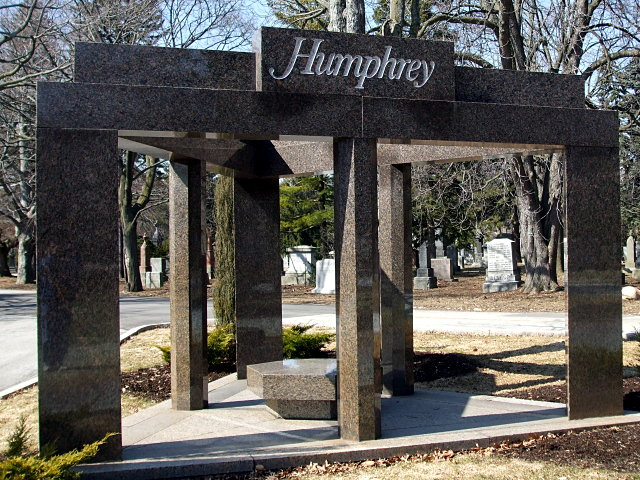 Humphrey family monument in Mount Pleasant Cemetery