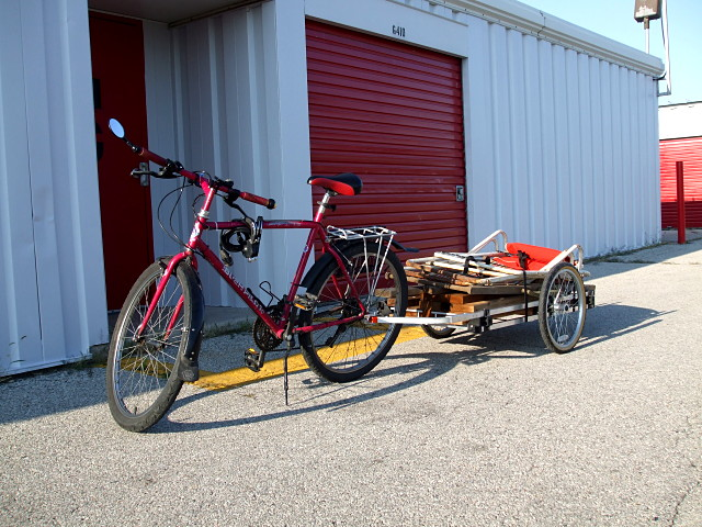 Homebuilt bike trailer