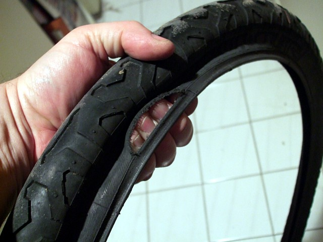 A three-finger tear in a tire can't be fixed with a piece of duct tape.
