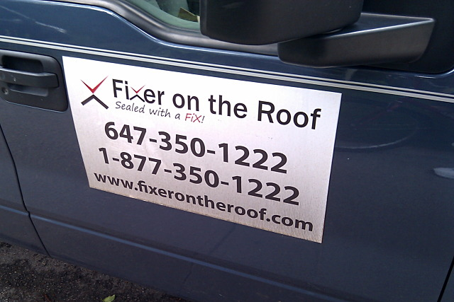 Fixer on the Roof, sealed with a fix