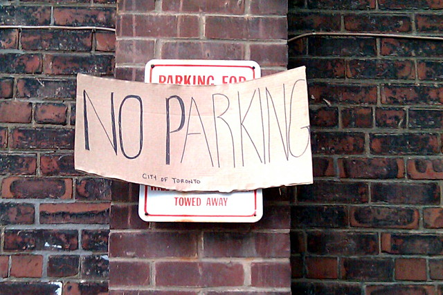 No parking. This means you.