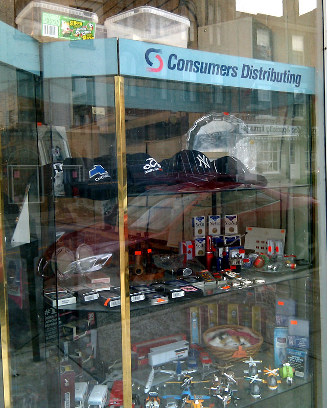 Consumers Distributing display cases