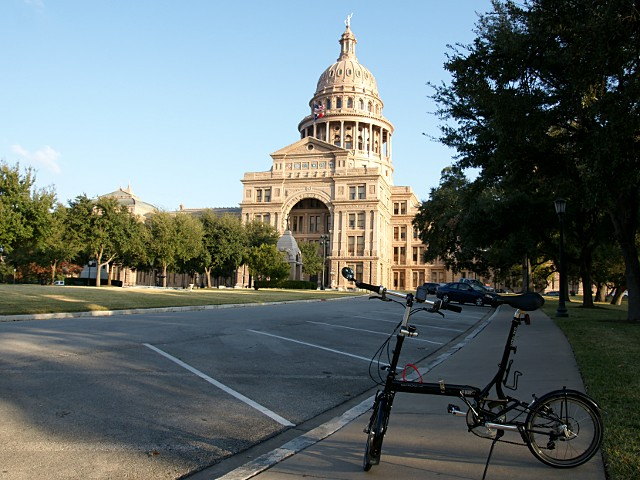 At the Texas Capitol, 2200 km from home