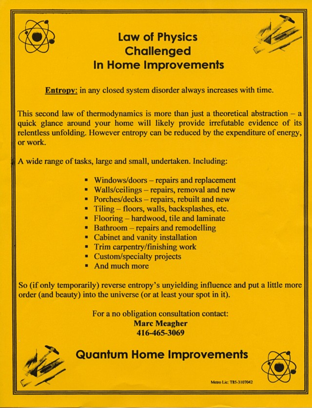 Quantum Home Improvements flyer