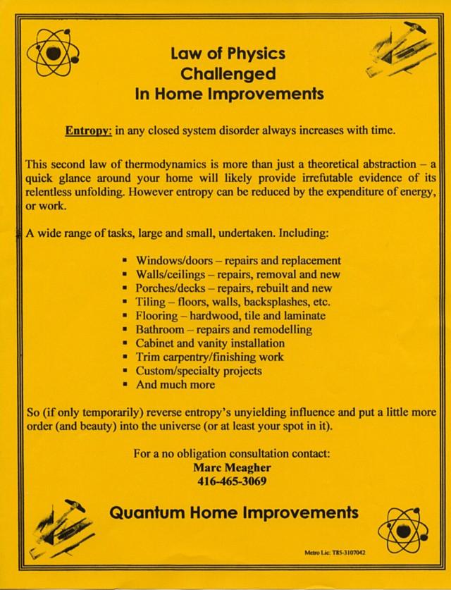 Quantum Home Improvements flyer
