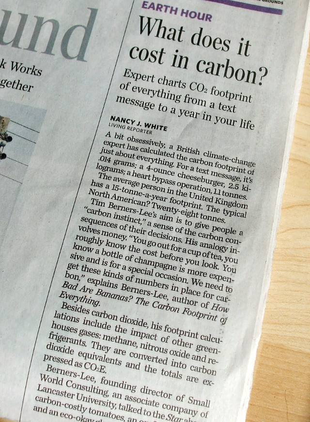 Tim Berners-Lee, carbon expert?