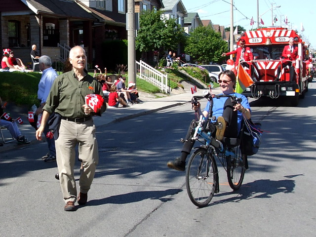 Jack Layton at the East York Canada Day Parade, 2010