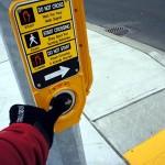 Pedestrian button at Warden