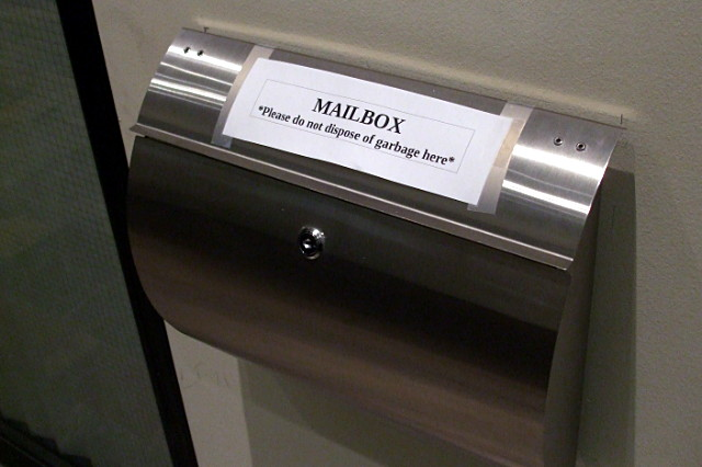 This is a mailbox not a garbage can