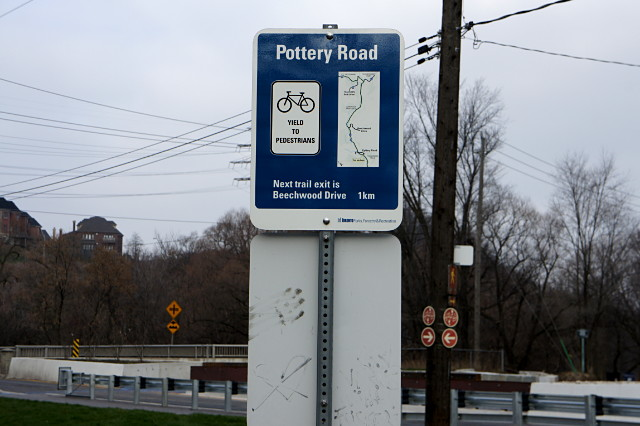 The new wayfinding signs on the Don Valley trail