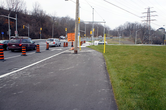 Cycling trail ends abruptly