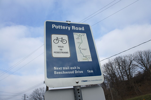 Improved wayfinding signs on the Lower Don trail