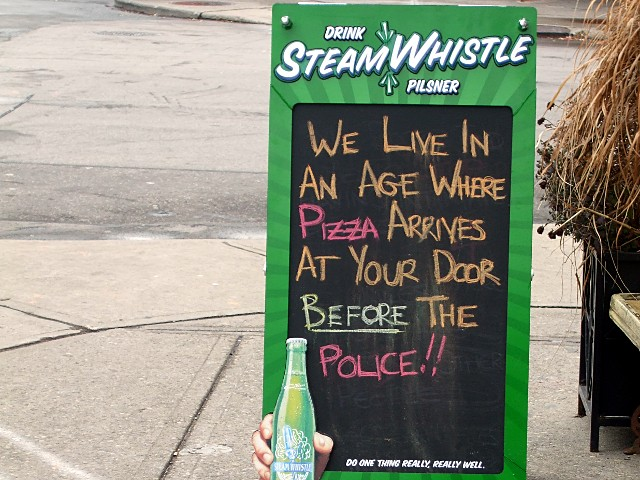 We live in an age where pizza arrives at your door before the police