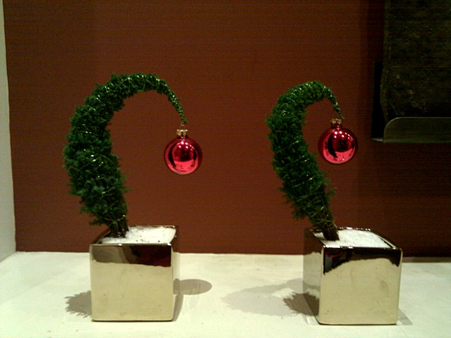 Miniature Whoville trees inside